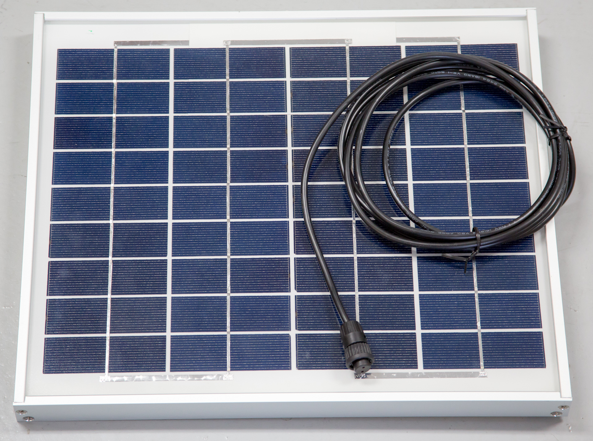 10 Watt Solar Panel, w/ mating 10ft cable | Cyclapse